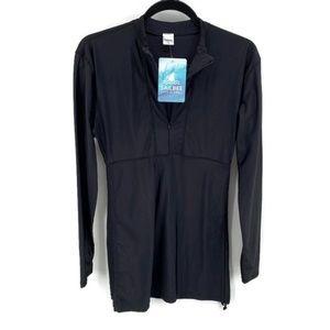 Sailbee Swim Shirt NWT Black LS Sz L